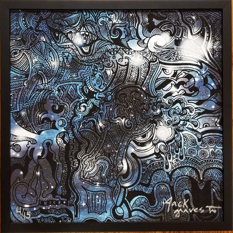 Jack Graves III Animal Print - Samurai (Blue)