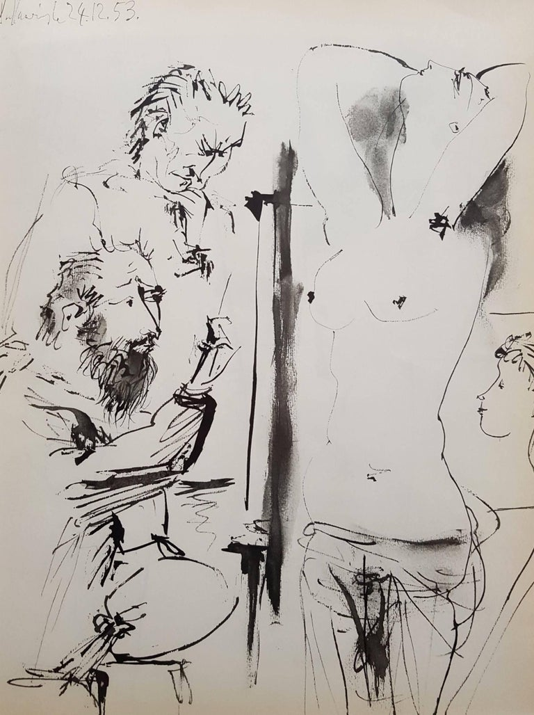 (after) Pablo Picasso Nude Print - La Comedie Humaine