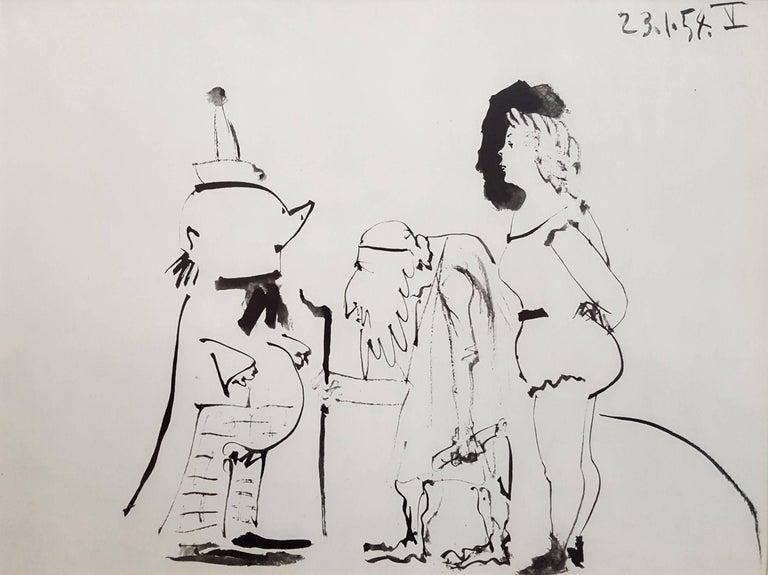 (after) Pablo Picasso Figurative Print - La Comedie Humaine