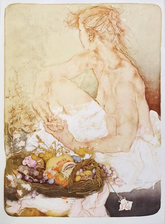 Dagmar Mezricky Nude Print - Earth