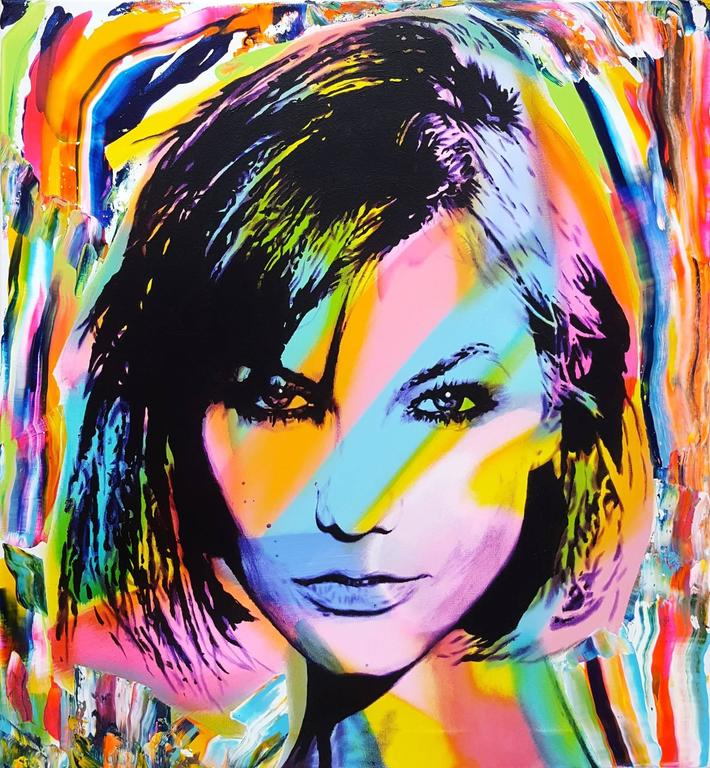 Jack Graves III Portrait Painting - Karlie Kloss Icon II