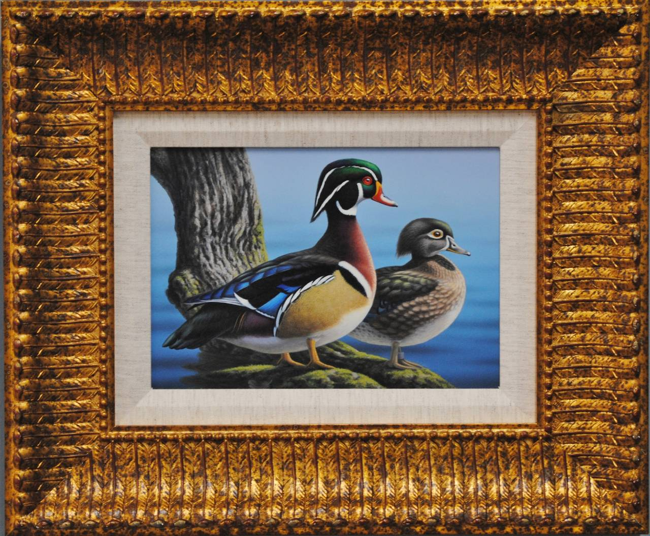 Wood Ducks - Painting by Ron Louque