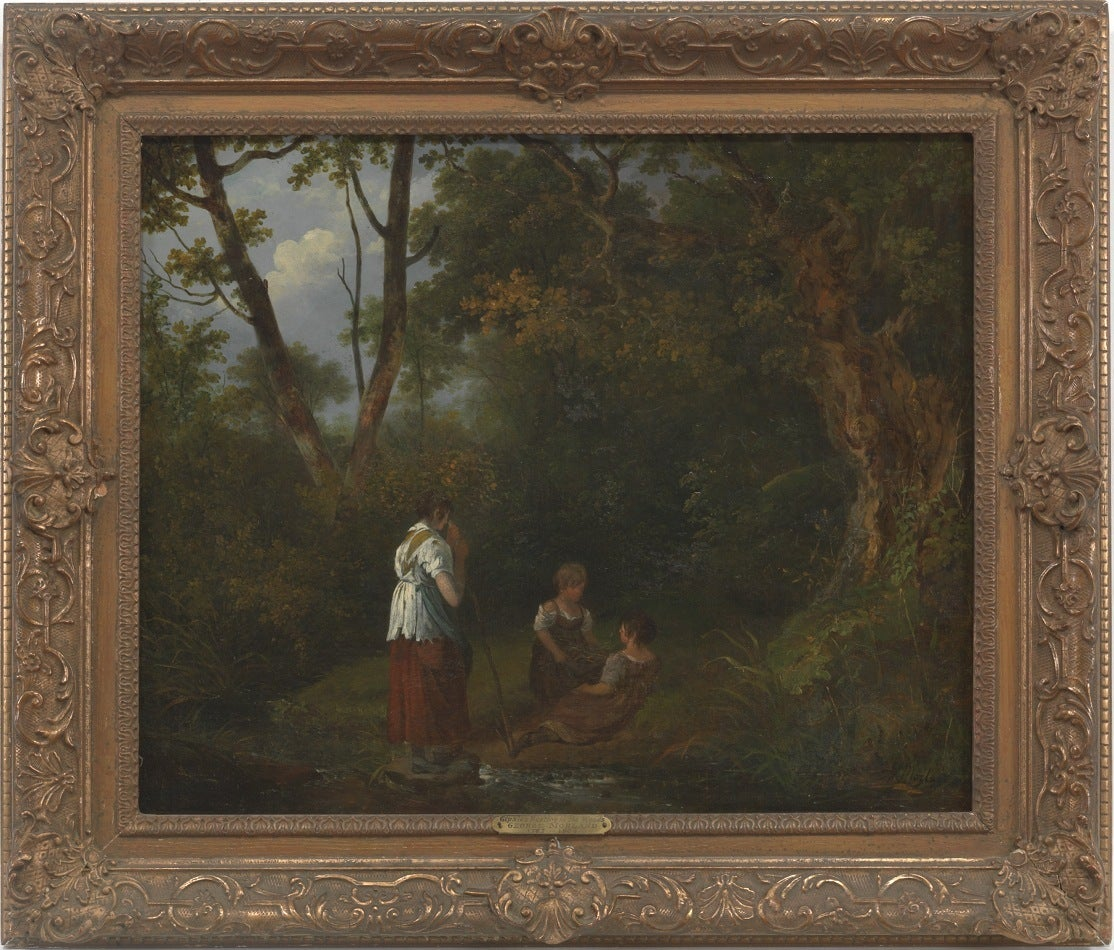 George Morland - Gypsies Resting in a Forest 1