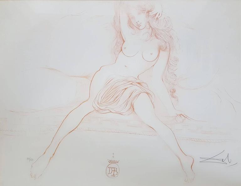 Salvador Dalí Nude Print - Nu au Sopha (Young Woman Arising) (A.F.158.70G)