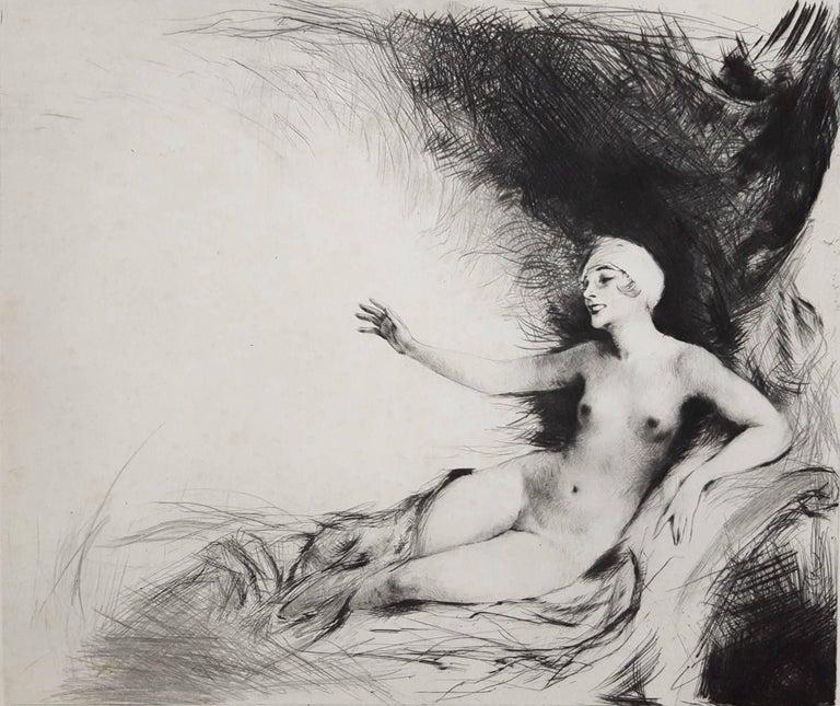 Carl Joseph Bauer Nude Print - Danae