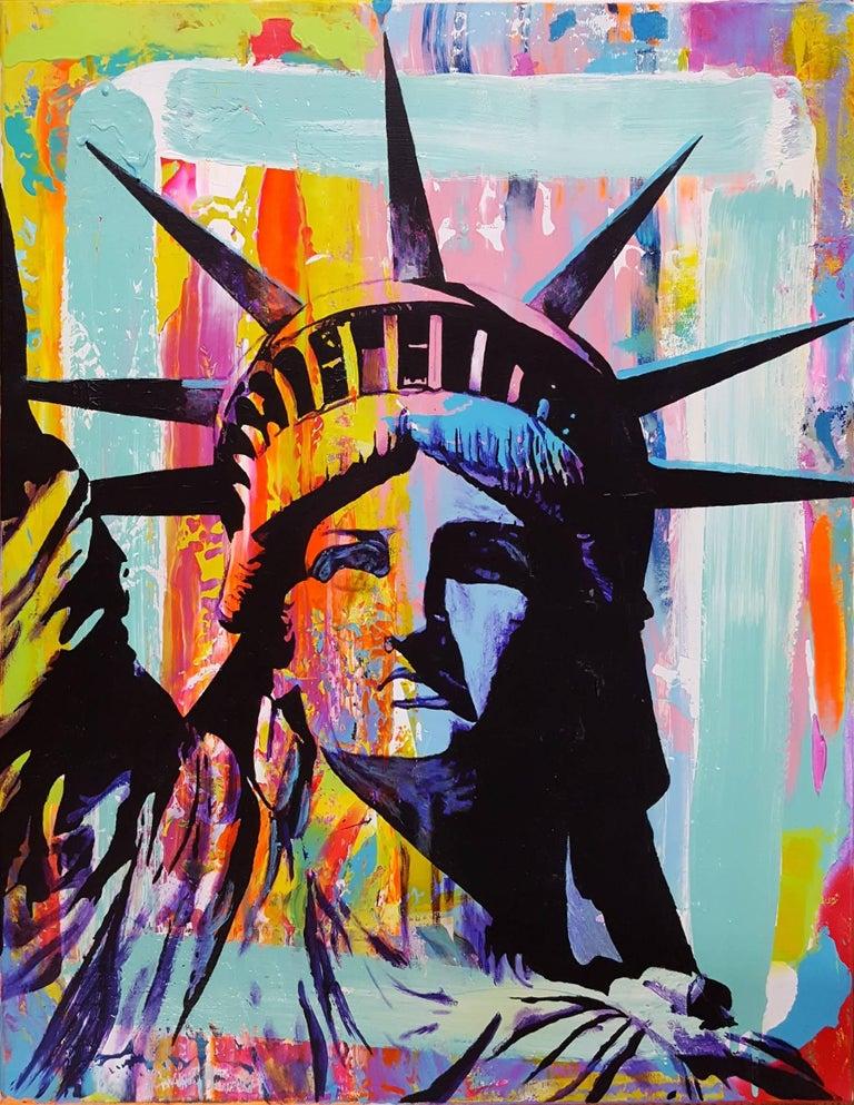 Jack Graves III Portrait Painting - Liberty Icon