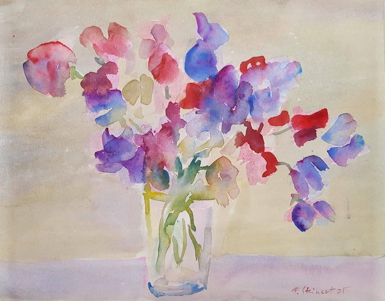 Fritz Steinert. Spring Flowers in Glass Vase & Fritz Steinert - Spring Flowers in Glass Vase For Sale at 1stdibs