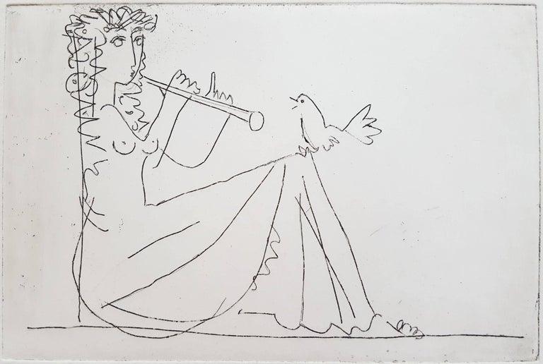 Albrecht Steinert Figurative Print - Kleine Melodie (No Melody)