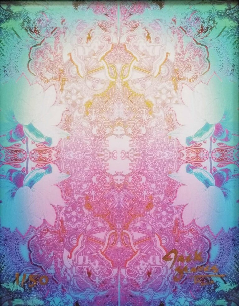 Jack Graves III Abstract Print - Lotus Flower (Freeze)