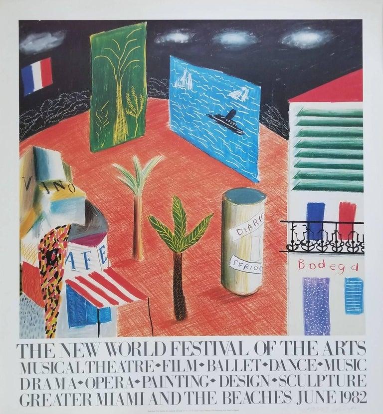 (after) David Hockney Landscape Print - The New World Festival of the Arts