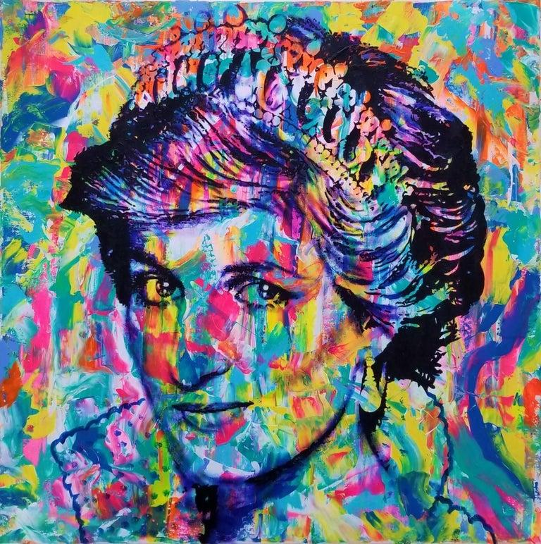 Jack Graves III Portrait Painting - Princess Diana Icon II