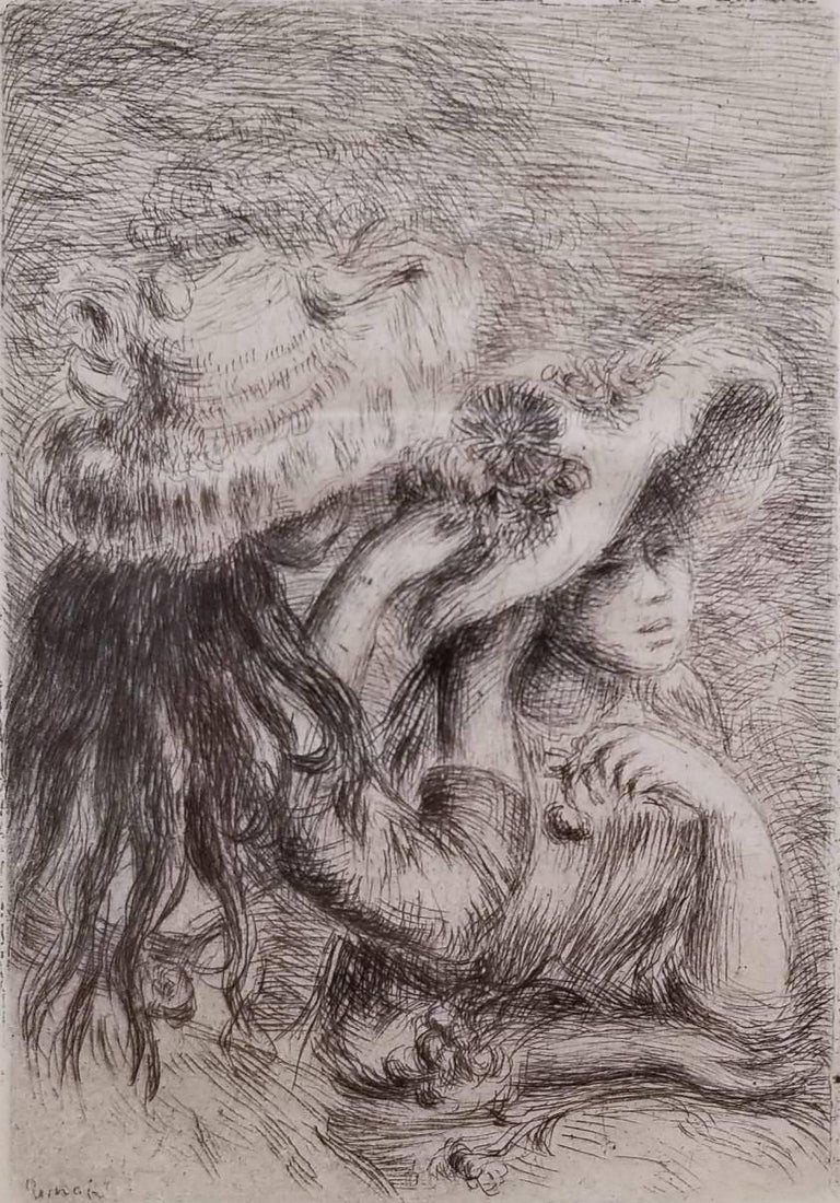 Pierre-Auguste Renoir Figurative Print - Le Chapeau Epingle