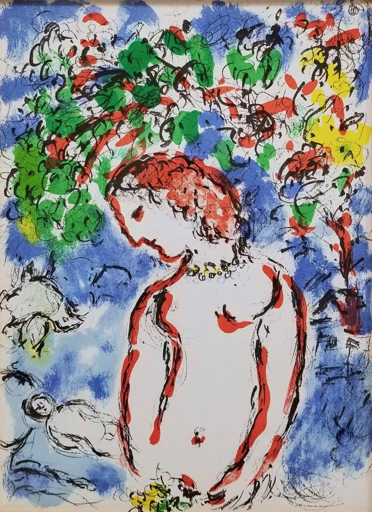 Marc Chagall Figurative Print - Jour de Printemps (Spring Day)