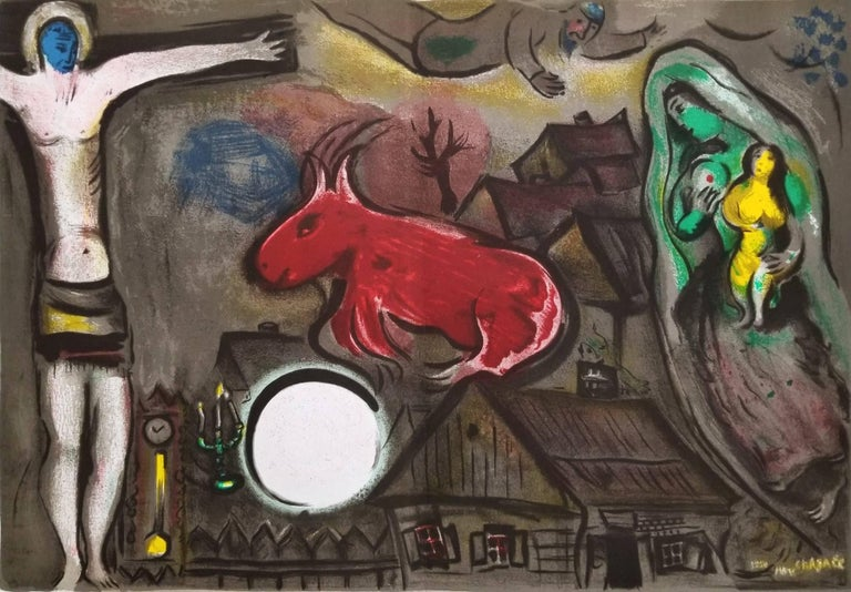 Marc Chagall - Mystical Crucifixion, Print For Sale at 1stdibs Chagall Crucifixion