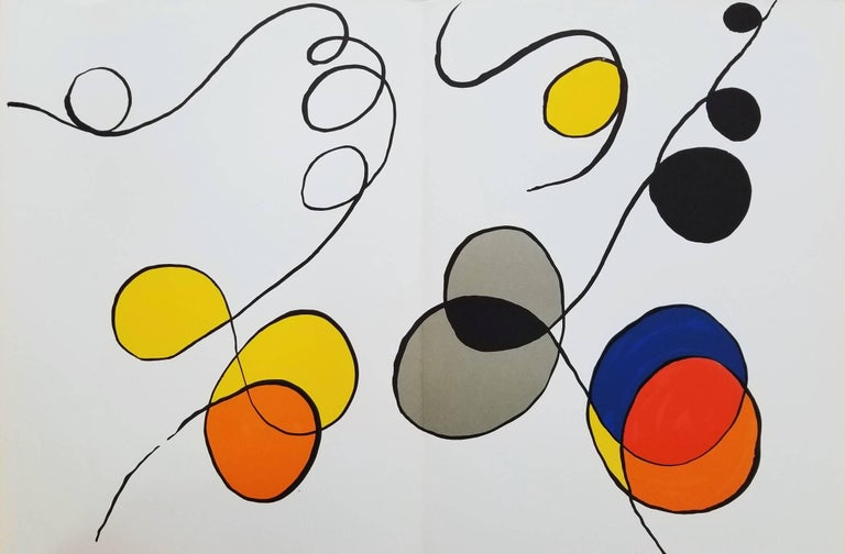 Alexander Calder - Derrière le Miroir No. 173 (Abstract IV) 1