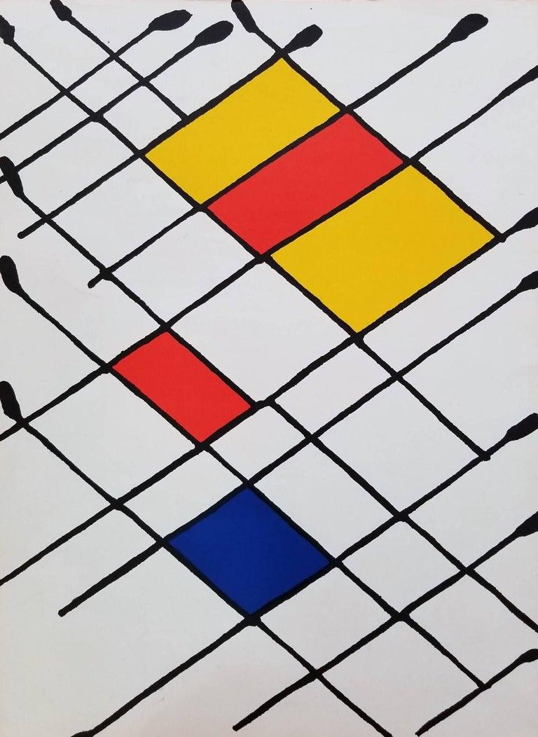 Alexander Calder - Derrière le Miroir No. 156 (Damier) 1