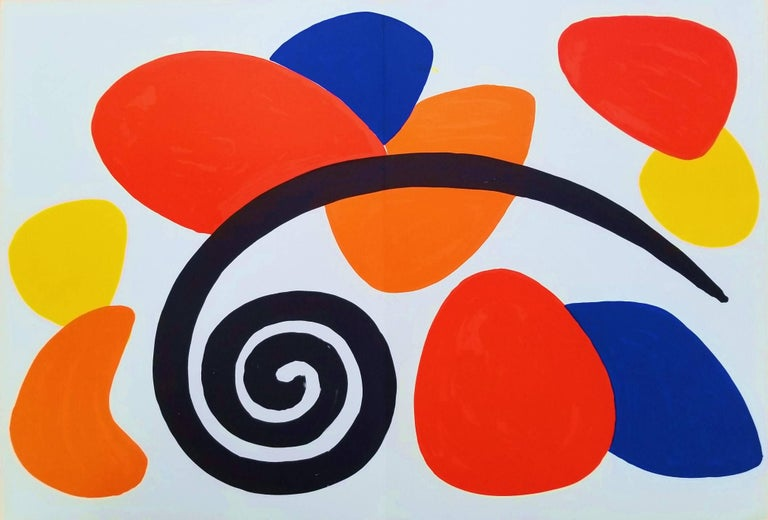 Alexander Calder Abstract Print - Derriere Le Miroir No. 173 (Abstract II)