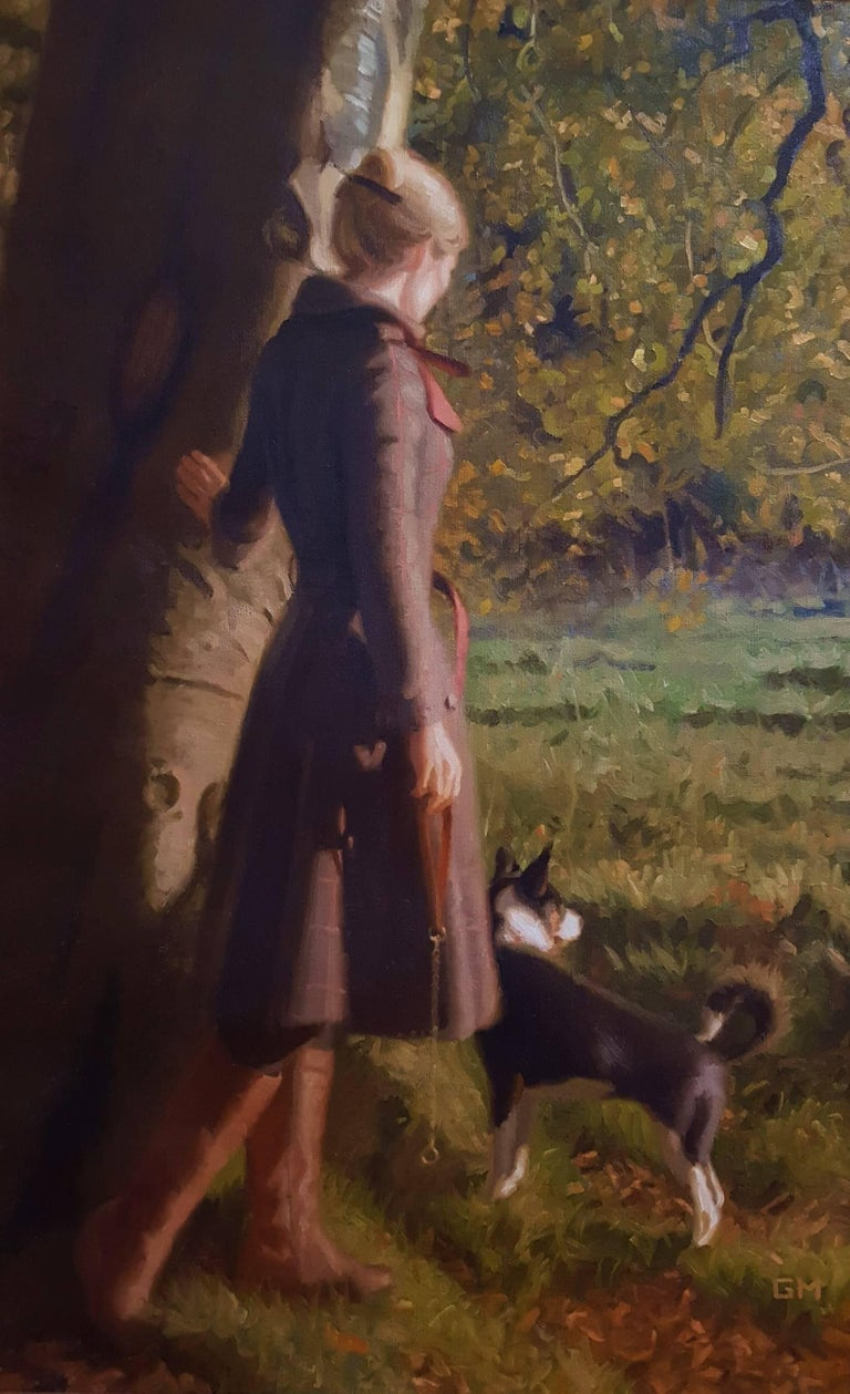 Gary Thomas Morrow Figurative Painting - Walk in the Braes