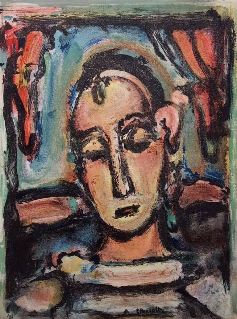 (after) Georges Rouault Portrait Print - Tete de Jeune Fille