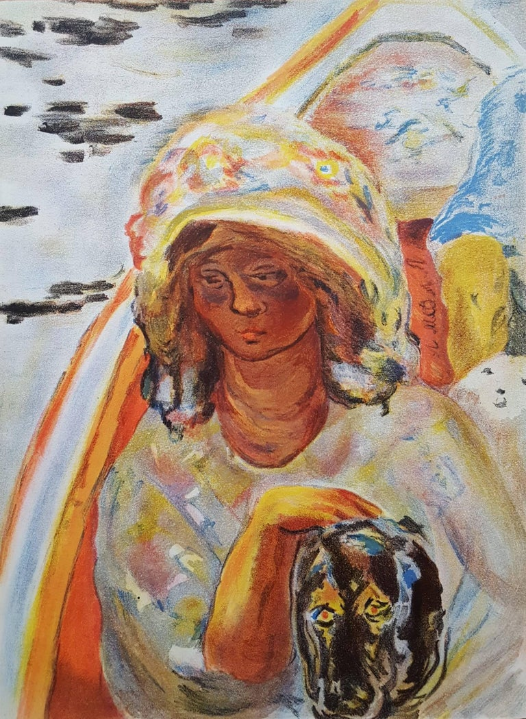 (after) Pierre Bonnard Figurative Print - Jeaune Fille dans un Barque
