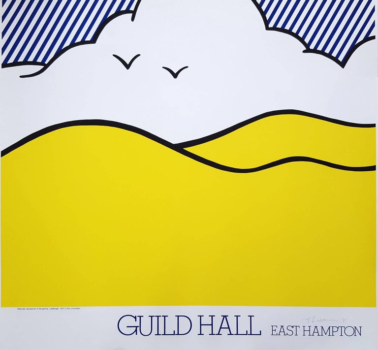 Roy Lichtenstein Landscape Print - Guild Hall East Hampton Poster