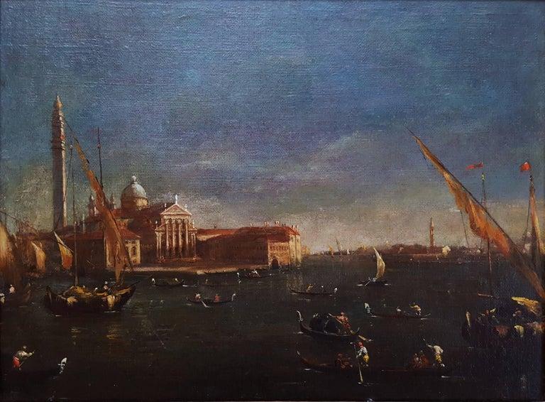 San Giorgio Maggiore, Venice - Painting by (In the manner of) Franceso Lazzaro Guardi