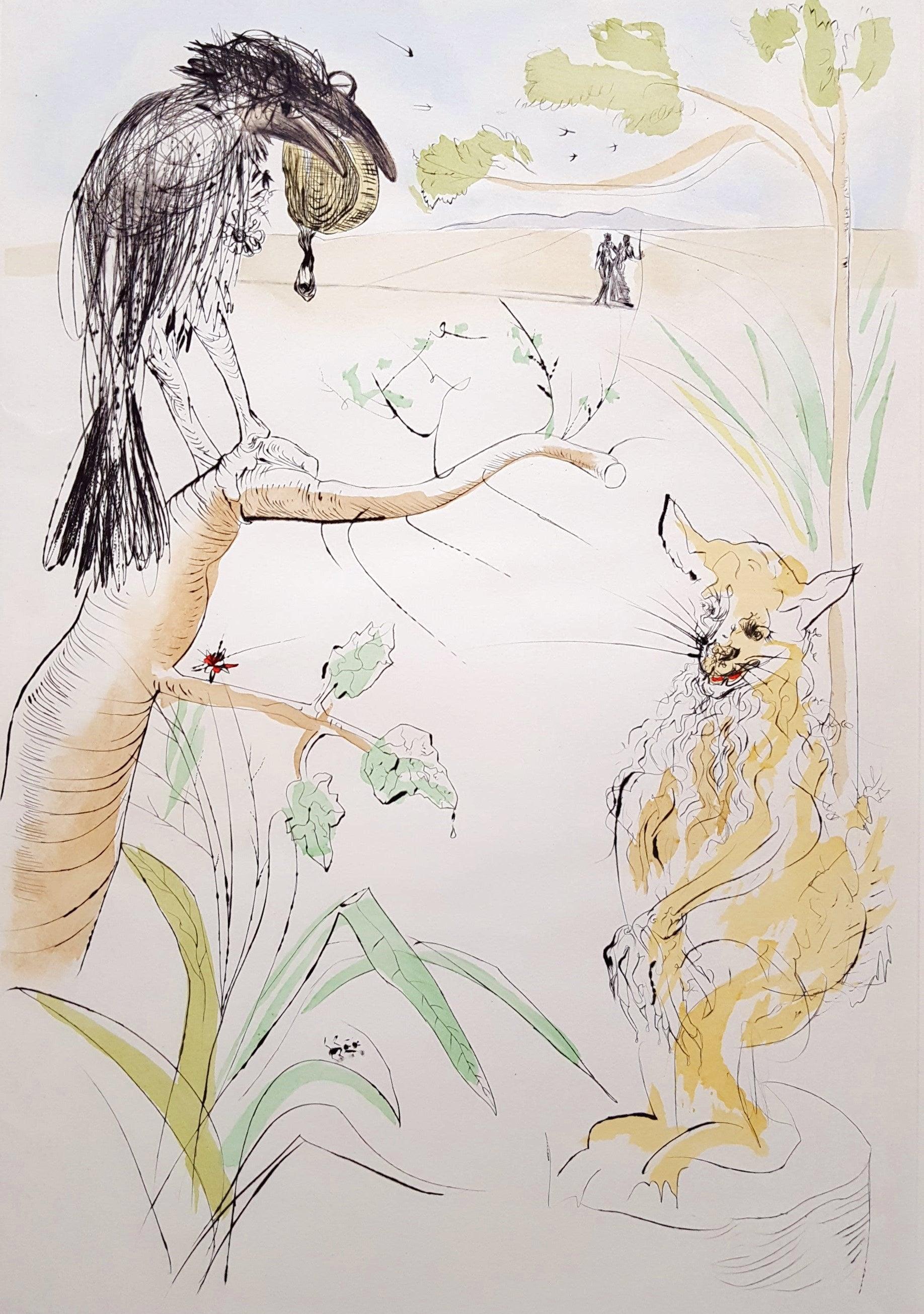 a317982e6fd Salvador Dalí - Le Corbeau et le Renard (The Raven and the Fox ...