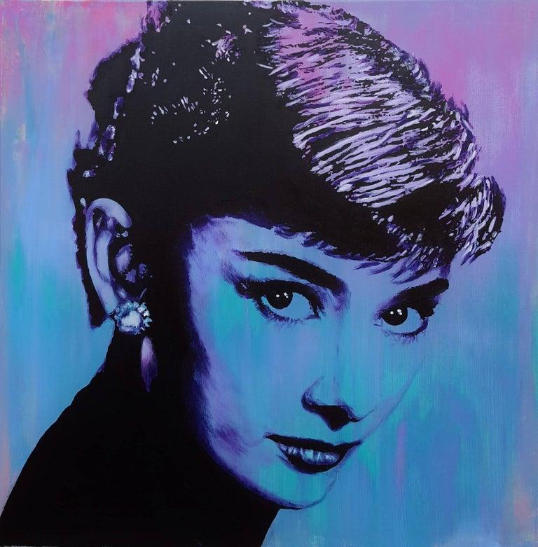 Jack Graves III Portrait Painting - Audrey Hepburn Icon II