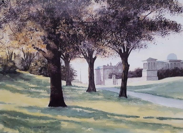 Gillie Cawthorne Landscape Art - The Observatory, Edinburgh