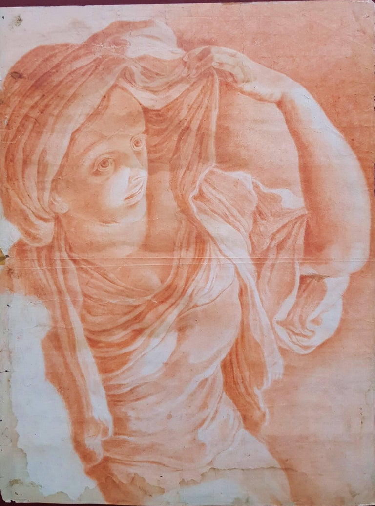 Anonymous Figurative Art - Giovane Donna Guardando a Sinistra (Young Woman Looking Left)