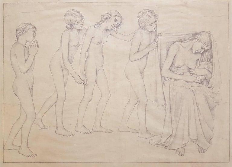 Ida Teichmann Nude Print - Die Kommenden (The Coming Ones)
