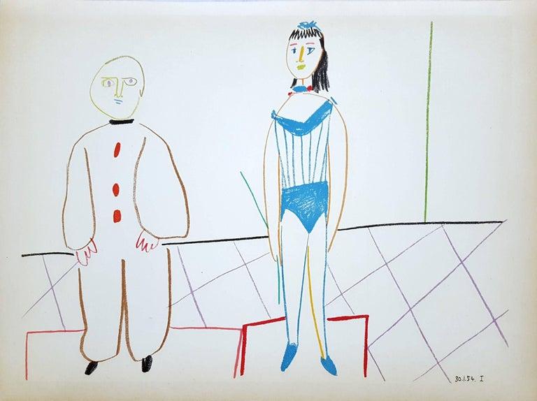 (after) Pablo Picasso Figurative Print - Untitled (Revue Verve)