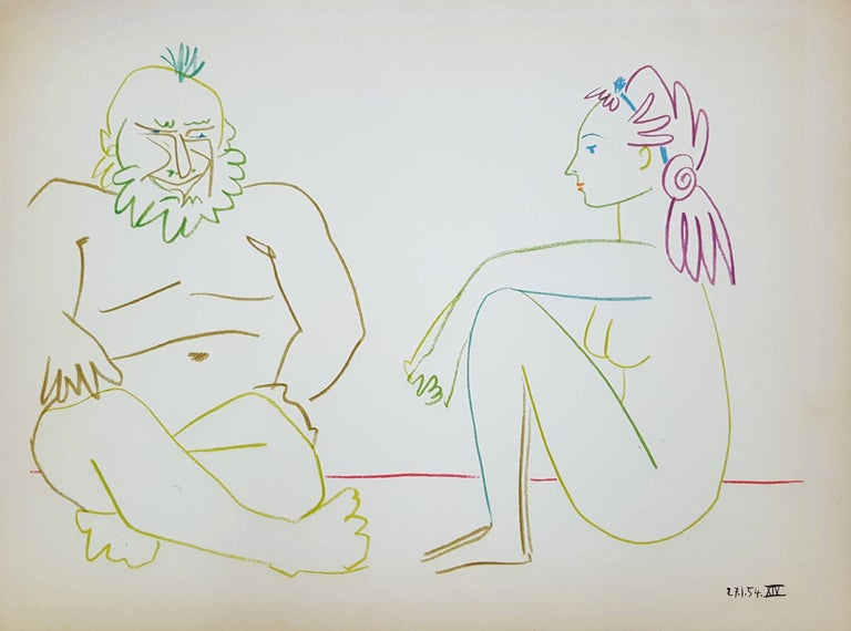 (after) Pablo Picasso Nude Print - Untitled (Revue Verve)