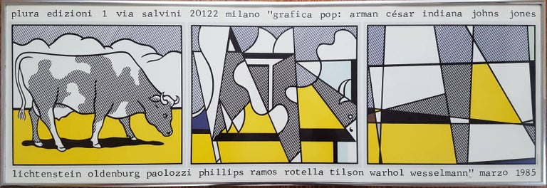 (after) Roy Lichtenstein Animal Print - Grafica Pop (Cow Going Abstract)
