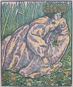 Quand Elle Va Sur L'herbe (Girl Picking Flowers)
