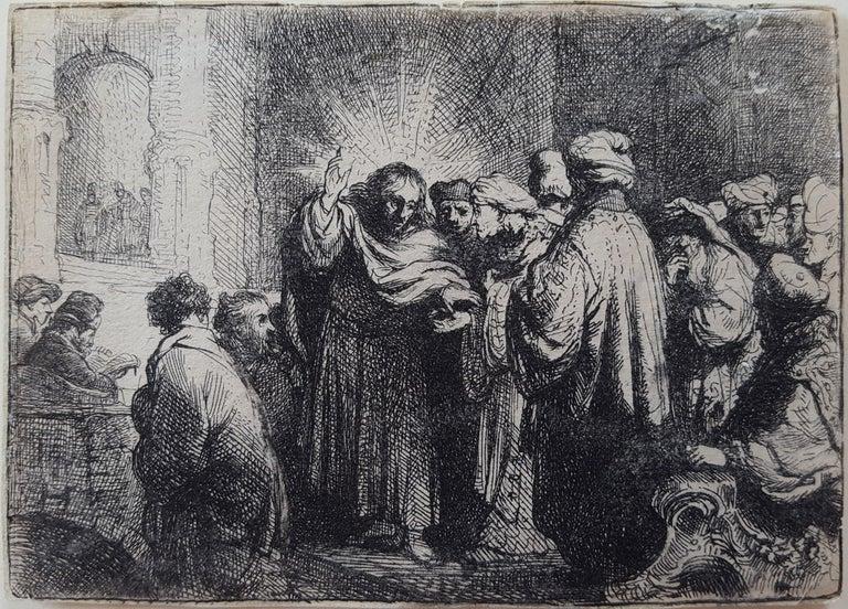 Rembrandt van Rijn Figurative Print - The Tribute Money