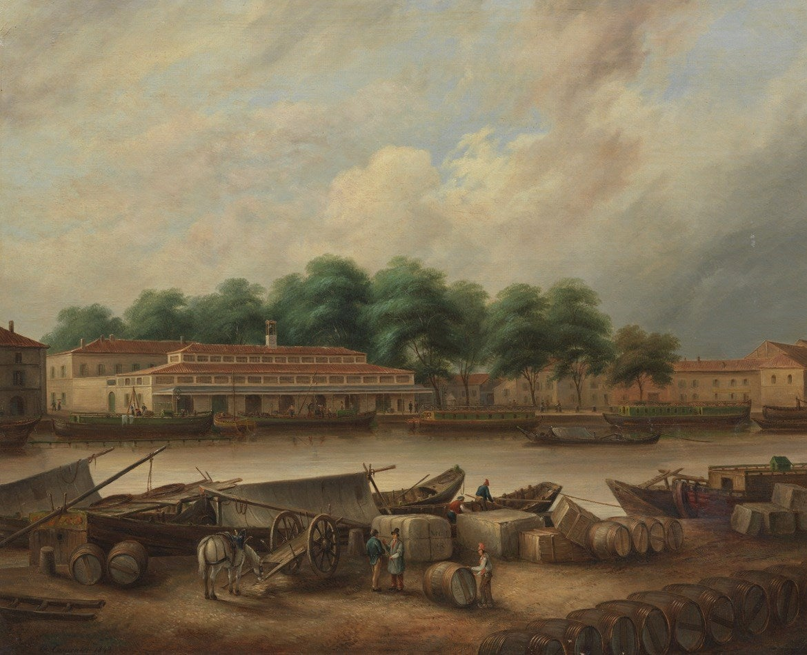 george carpenter le port st sauveur at toulouse painting at 1stdibs