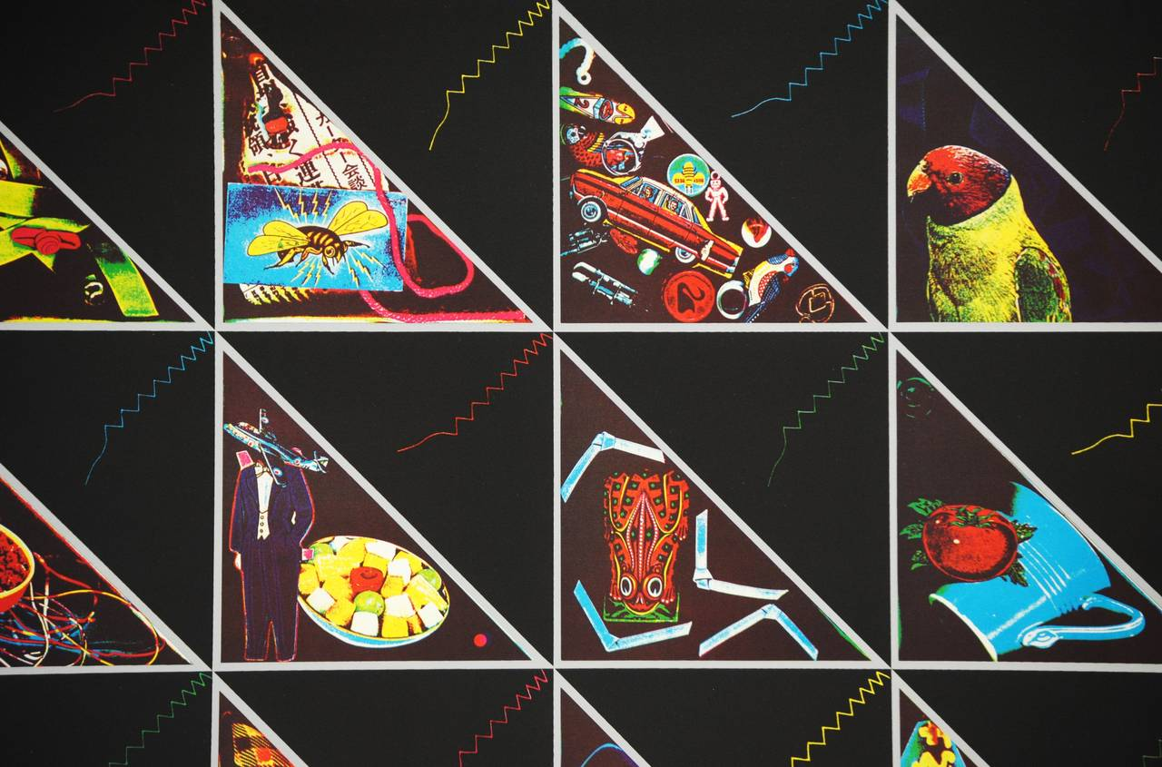 Triangle Quilt - Folk Art Print by Ron Gasowski