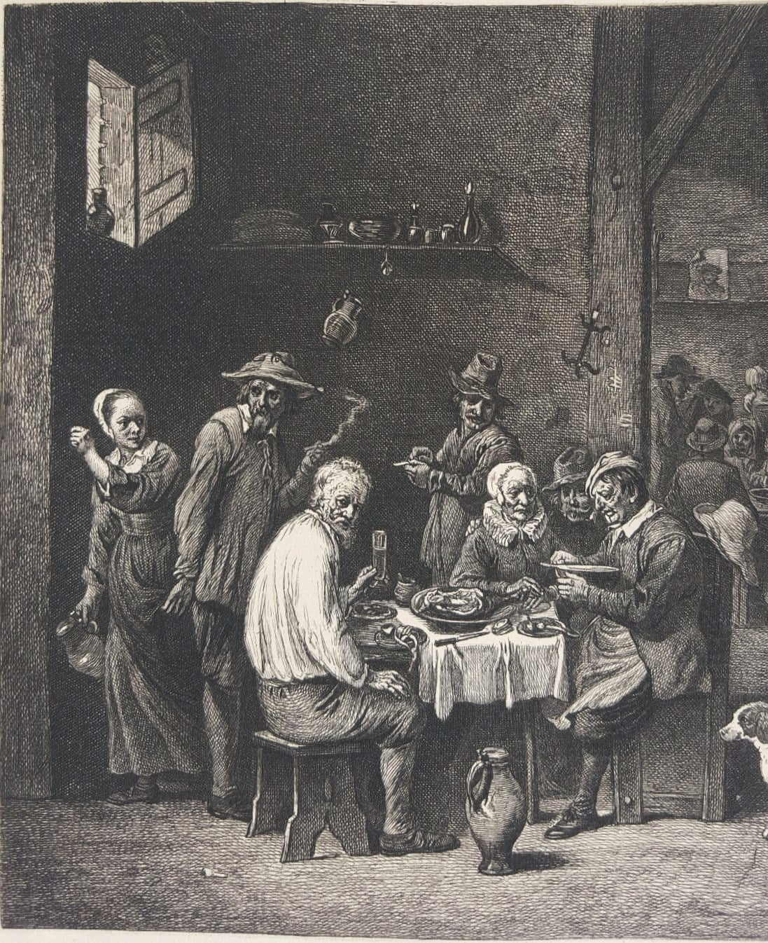 The Dinner Ham - Baroque Print by David Teniers the Younger