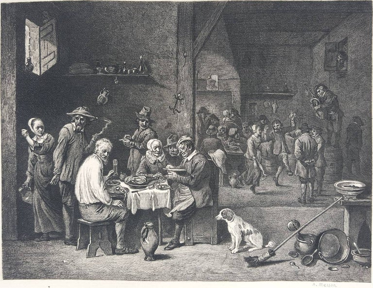 David Teniers the Younger Interior Print - The Dinner Ham