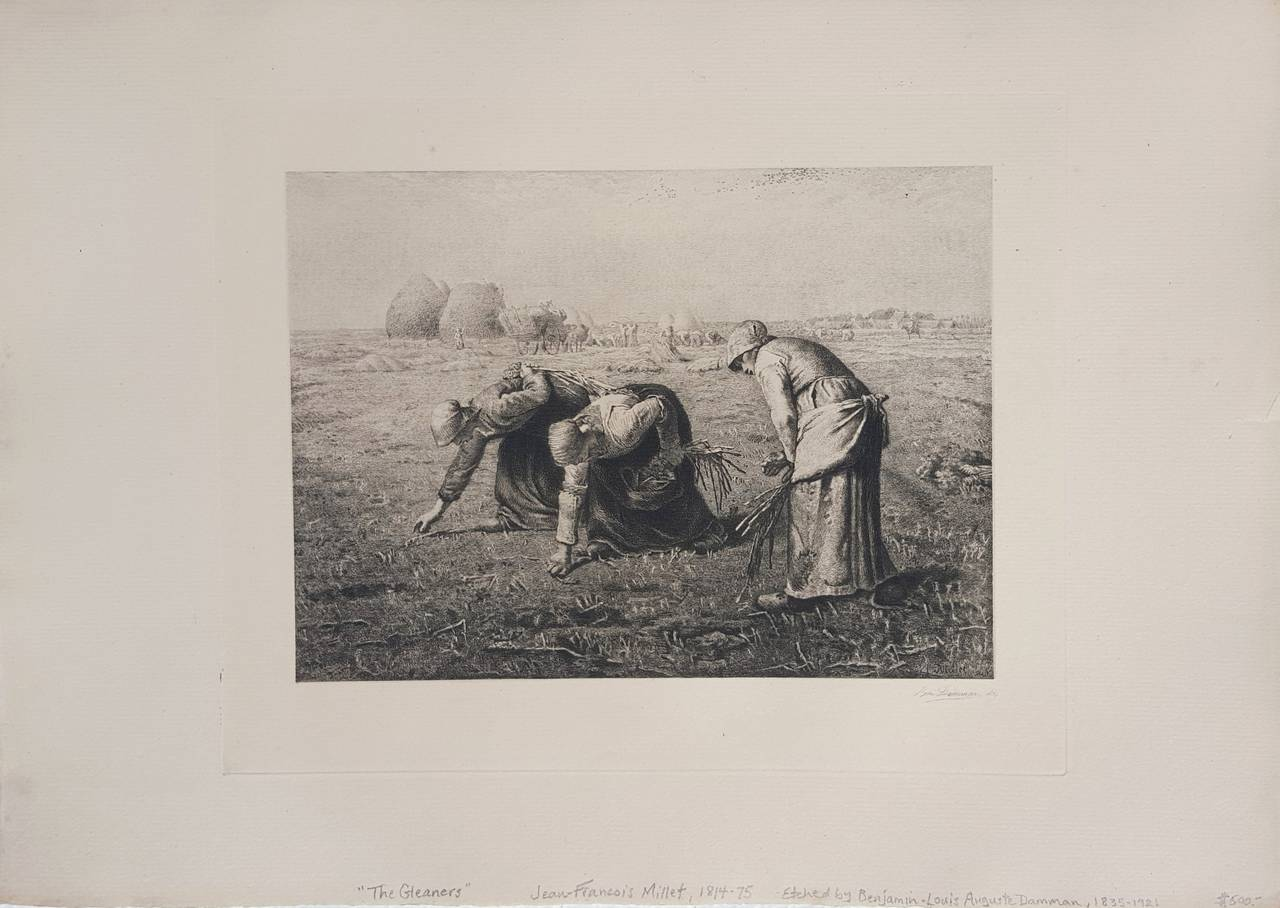 The Gleaners - Print by Benjamin-Louis-Auguste Damman