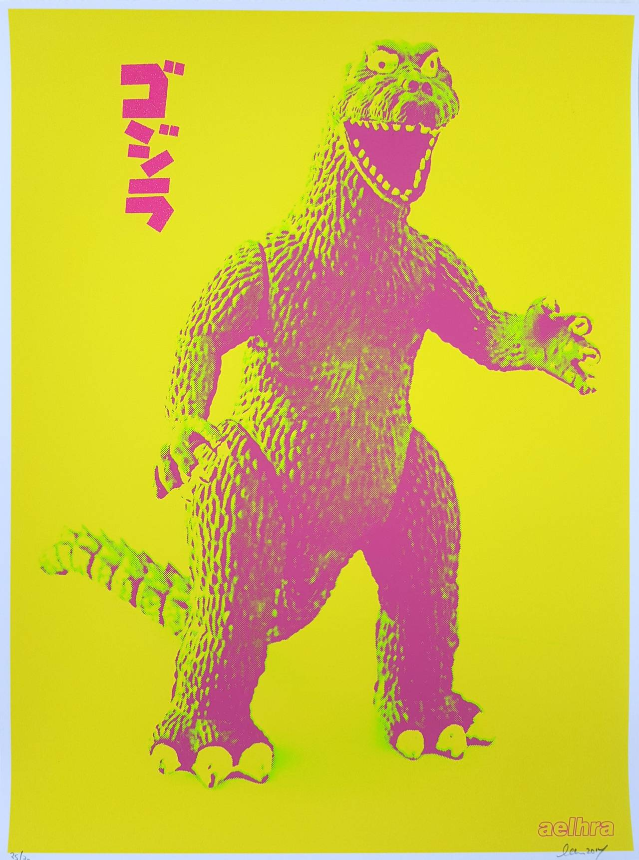 Aelhra - Gojira Godzilla, Print For Sale at 1stdibs