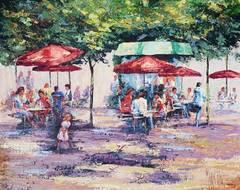 Mark King - Le Cafe Dans Jardin des Tuileries