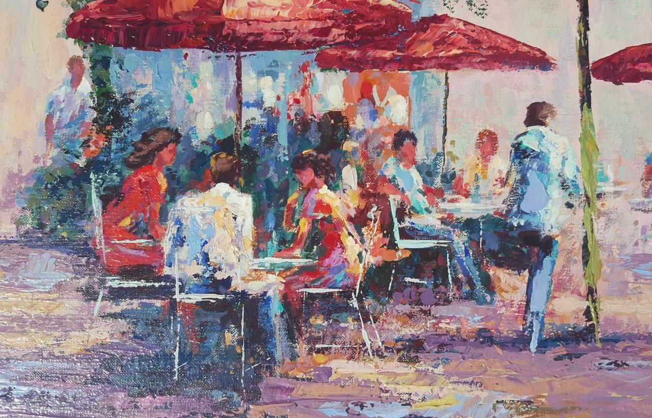 Le Cafe Dans Jardin des Tuileries For Sale 1
