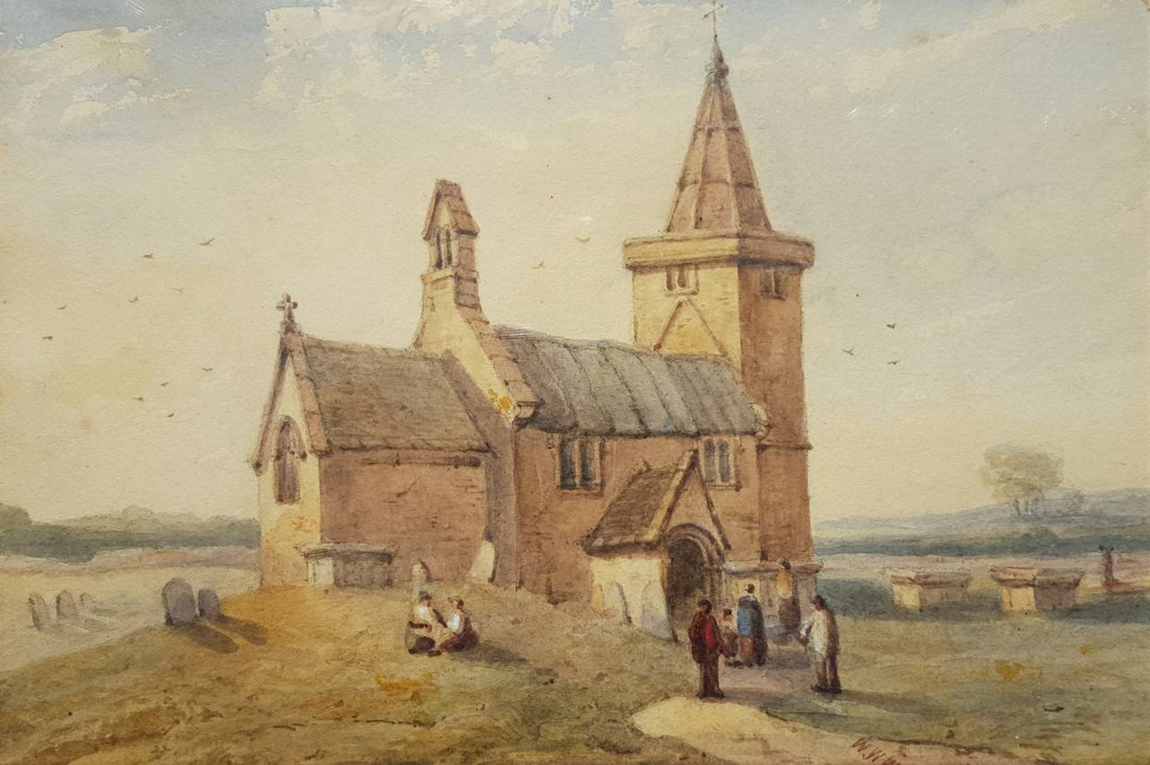 William Walter Wheatley Old Church In Somerset At 1stdibs