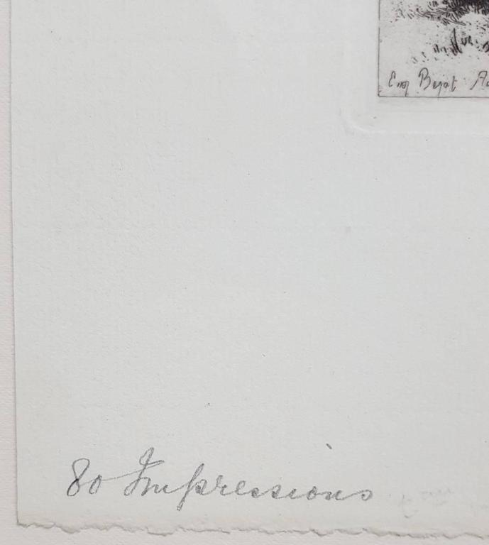 Le Quai du Rhin, Anvers - Impressionist Print by Eugene Bejot