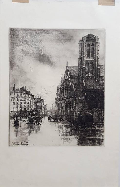 Paris, St. Nicholas - Print by Eugene Bejot