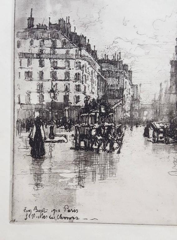 Paris, St. Nicholas - Impressionist Print by Eugene Bejot