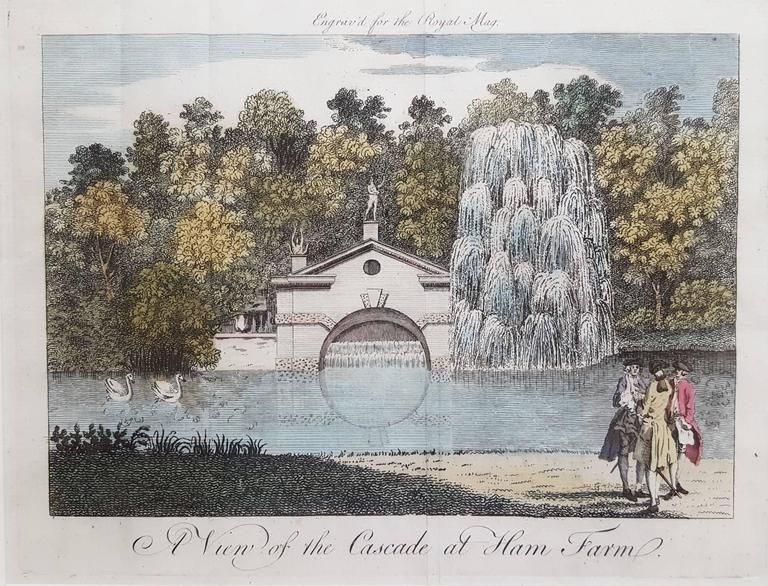 A View of the Cascade at Ham Farm - Print by Anonymous