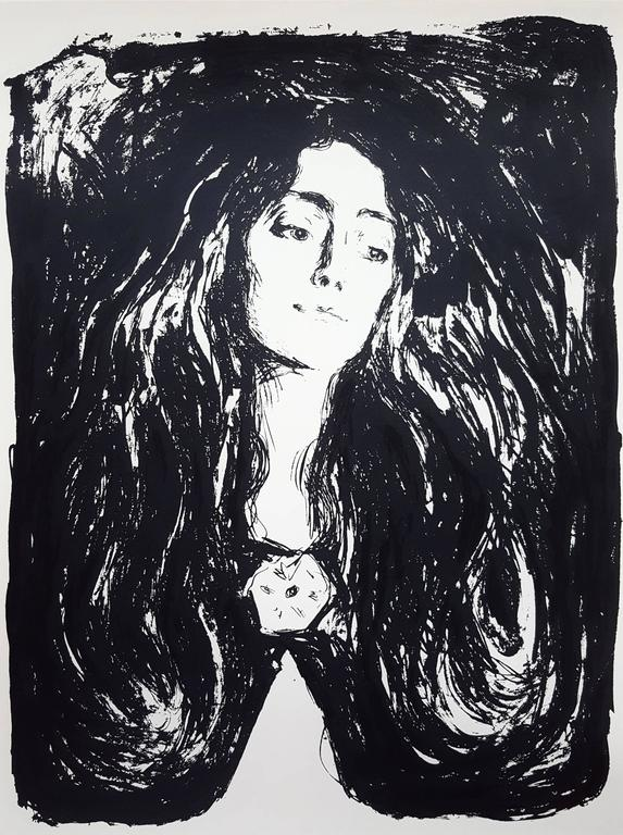 Madonna (The Brooch. Eva Mudocci) - Print by (After) Edvard Munch